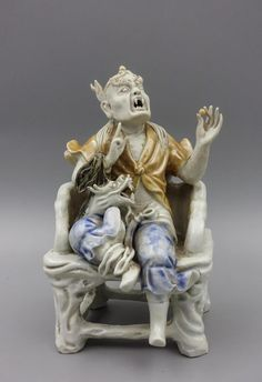 Chinese Qing Dynasty Porcelain Figure Of Lohan