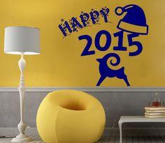 Wall Decals 2015 Happy New Year Merry Christmas Vinyl Sticker Wall Decor KG645 #Holiday #happynewyear