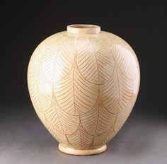Vare: 4680224 Kähler. Stor vase af lertøj, ca. 1920