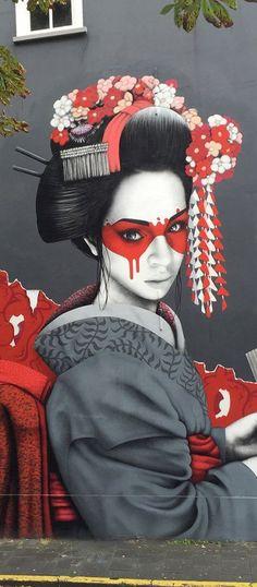 Street Art photos of ''Geisha''....