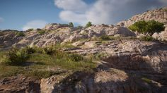 On this project, I was involved in different topics. One of them was to do the creation of the global terrain modeling with World Machine. Then after that, I was mandated for the creation of the ground and rock /cliff textures. Used a lot of mixed techniques, but for a more realistic feeling in texture I went on a photogrammetry scout trip in California & Nevada for capturing a collection of interesting and original surfaces. This project was probably one of my most valuable in term ...