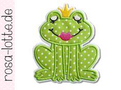 Aufnäher - Frosch Prinzessin Applikation zum bügeln - ein Designerstück von -ika- bei DaWanda