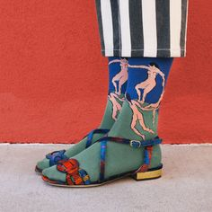 View from the Topp Takes on Art Socks. Henri Matisse's Dance (I) in Dries Van Noten - Vogue