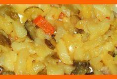 Zemiakový šalát BEZ MAJONÉZY Ham, Macaroni And Cheese, Side Dishes, Food And Drink, Cooking Recipes, Potatoes, Menu, Vegan, Ethnic Recipes