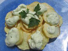 Salsa alioli, probada ok. Aioli, Tapas, Chicken, Vegetables, Breakfast, Ethnic Recipes, Desserts, Food, Sliced Potatoes