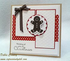 Scallops, Dots & A Gingerbread Man! by deb2stamp - Cards and Paper Crafts at Splitcoaststampers