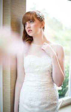 Karen Elizabeth wedding dress. Lace fitted gown with organza ruffle skirt. Daniella Flores Photography, MUA-Natasha Dardas