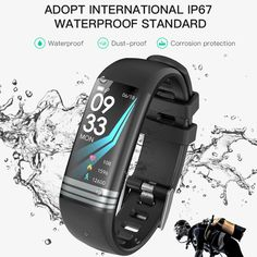 Watches Men's Watches 2019 Latest Design Gejian Smart Bracelet Heart Rate Blood Pressure Exercise Step Ip67 Waterproof Swimming Wristband Men Women Smart Watch Movement Selling Well All Over The World