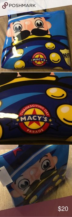 Macys vintage nyc limited tote holiday Macys brand new nyc classic thanksgiving day parade everyday tote. Rubber plastic material. Its a older model from years ago. Looks great and has tons of character. New condition. Bought in macys herald square. Thanks Macys Bags Totes