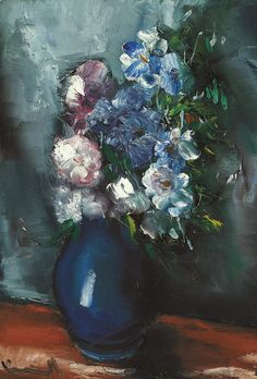Bouquet in the Blue Vase, by Maurice de Vlaminck (French, 1876-1958),