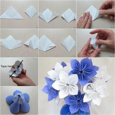 Paper flowers origami pinterest flower diy flower and origami origami pinterest flower diy flower and origami mightylinksfo