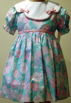 $40.95   Girls Floral Dress in Aqua / Pink / Lavender - size 4T
