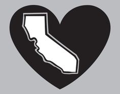 L.A. Kings / Oakland Raiders California Heart Decal - pinned by pin4etsy.com