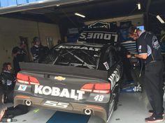 Back to the garage for the 48 team!