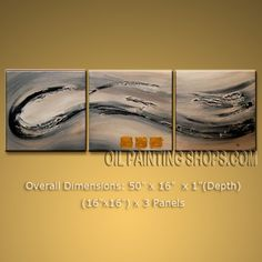 Hand-painted Elegant Modern Abstract Painting Wall Art Interior Design. In Stock $108 from OilPaintingShops.com @Bo Yi Gallery/ ops9002