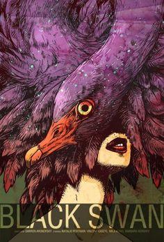 Black Swan #alternative #movie#art#poster #complex #illustration #film #creative