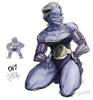 067.Machoke by tamtamdi