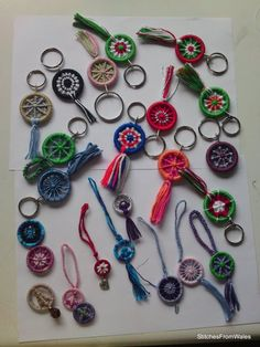 Link doesn't work, but this picture provides good ideas for using Dorset buttons.