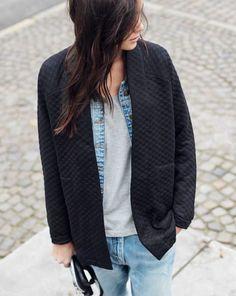 boxy jacket + boyfriend jeans