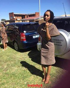 Shweshwe designs 2018 for women - style you 7 African Attire, African Dress, Shweshwe Dresses, Fabric Shop, African Fabric, African Women, Traditional Dresses, Green Dress, I Dress