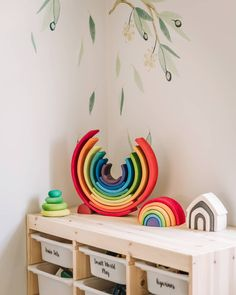 Whats better than a Grimms rainbow? TWO Grimms rainbows! 🌈🌈 And I must say, bigger is better in this case 🤣 Elijah loved his smaller one… Montessori Playroom, Montessori Activities, Infant Activities, Reggio Emilia, 18 Month Old Activities, Grimm's Toys, Grimms Rainbow, Rainbow Rice, Eco Kids