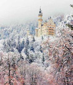 Visit Castle Neuschwanstein in Bavaria, Germany 50 things to do in Europe before you die | herinterest.com