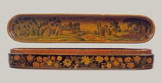 Pen Box with a Europeanizing Landscape. The Metropolitan Museum of Art, Estados Unidos. Persian Motifs, Iranian Art, Jewish Art, Pen Case, Muhammad, Landscape, Metropolitan Museum, Antiques, Artist