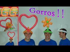 sombreros locos - cotillon para fiestas - globoflexia facil - sombrero con globos - YouTube