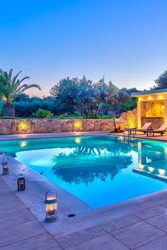Family Villas in Crete, Chania, Kreta Villa luxury rentals in Chania, Rethymno, Elounda Romantic Places, Peaceful Places, Romantic Vacations, Summer Vacations, Places Around The World, Around The Worlds, Relax, Romantic Evening, Gardens