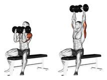 Exercising. Lifting Dumbbell Forward Alternately - Download From Over 54 Million High Quality Stock Photos, Images, Vectors. Sign up for FREE today. Image: 43688865