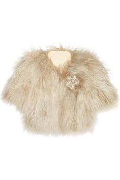 Crystal-brooch shearling jacket | Lanvin | 70% off | THE OUTNET