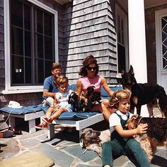 The Kennedys & their GSD Clipper
