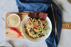 Soba Noodle Bowl with Shiitake Mushrooms & BBQ Tempeh   Pick Up Limes   Nourish the Cells & the Soul