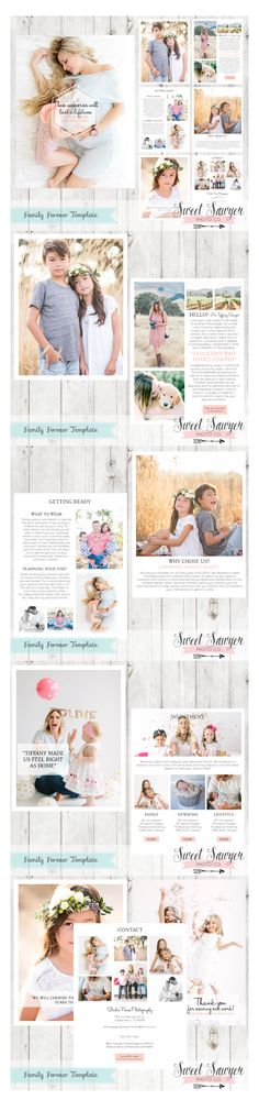 Welcome Magazine Template for Photographers. Includes 10 pages.