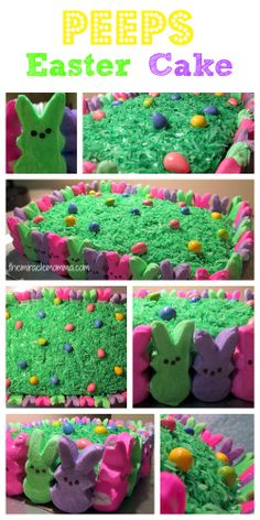 Peeps Easter Cake - virtually effortless to decorate