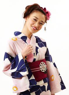 Yukata 浴衣 大椿金魚