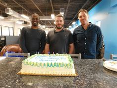 On Feb. 10, 2016 we celebrated three #TeamRand birthdays at the office, for Andrew, Manny and Nick.