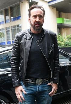 Nicolas Cage looks unrecognisable as he debuts new bearded look