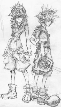 Image result for kingdom hearts sketches