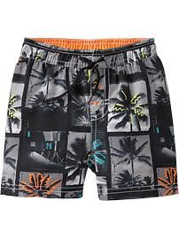 Palm-Trees Swim Trunks for Baby