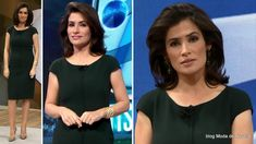 Vestido verde da Renata Vasconcellos no Fantástico 11 de maio