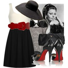 sophia loren fashion style | fashion look from July 2008 featuring forever 21 dresses, christian ...