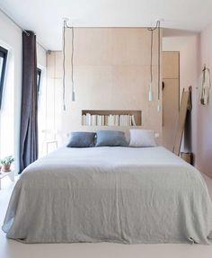 A Self Designed Home in The Netherlands - Gravity Home Bedroom Red, Home Bedroom, Master Bedroom, Wardrobe Behind Bed, Minimal House Design, Peaceful Bedroom, Self Build Houses, Gravity Home, Modern Bedroom Design