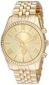 U.S. Polo Assn. Women's USC40058 Gold-Tone Watch
