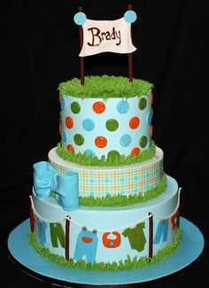 Blue Baby Shower Cake by its-a-piece-of-cake, via Flickr