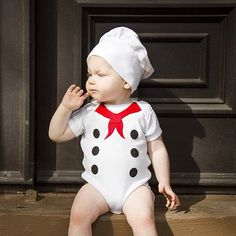 Little Chef Costume, Baby French Chef Onesie on Etsy, $42.00