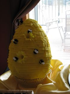 Bee Hive Pinata - Making This a Tracker Jacker Nest for a Hunger Games Party
