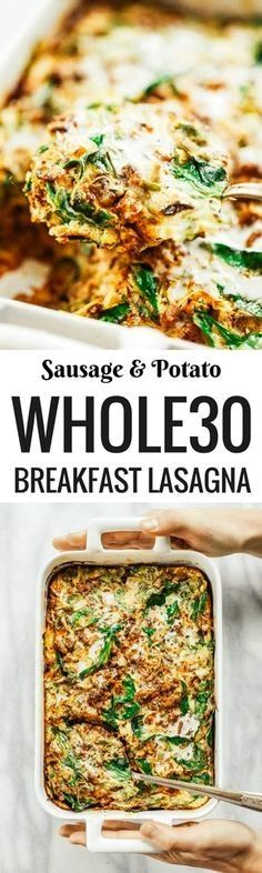 A warm and comforting home-style paleo whole30 breakfast casserole. Made with sweet potato, turkey sausage, and eggs. And easy healthy dairy free breakfast recipe. This recipe can be made ahead and…MoreMore