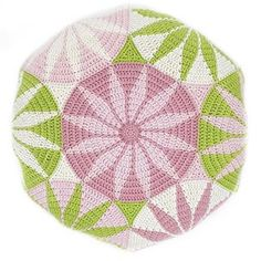 The Marguerite Motif is a free crochet pattern based on a geometric design. Diy Crochet Rug, Manta Crochet, Crochet Cushions, Tapestry Crochet, Free Crochet, Crochet Motif Patterns, Knitting Paterns, Crochet Diagram, Knitting Charts