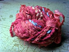 How to make hand spin yarn from fabric scraps!